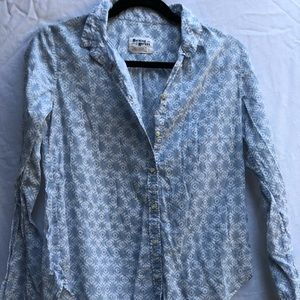 ANTHROPOLOGIE holding horses western button up
